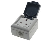 SMJ SMJEP13SB - IP54 Outdoor Socket 13A Single Gang