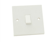 SMJ SMJPPLS1G1W - Lightswitch 1 Gang 1 Way 10Amp