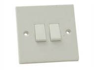 SMJ SMJPPLS2G2W - Lightswitch 2 Gang 2 Way 10Amp