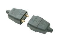 SMJ SMJRC2PBC - Black 10A 2 Pin Plug & Socket
