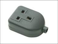 SMJ SMJRTS1BC - Black Extension Socket 13A 1 Gang