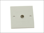 SMJ SMJW1GTVC - 1 Gang Coaxial TV Socket