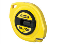 Stanley Tools STA034107 - Closed Case Steel Tape 30m / 100ft (Width 9.5mm)