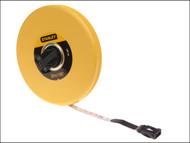 Stanley Tools STA034262 - Closed Case Fibreglass Tape 30m / 100ft (Width 12.7mm)