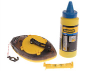 Stanley Tools STA047465 - Power Winder Chalk Line 30 Metre , Chalk & Level