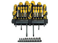Stanley Tools STA062146 - Screwdriving & Socket Set of 47 In Rack