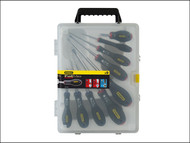 Stanley Tools STA065424 - FatMax Screwdriver Set Parallel / Flared / Pozi Set of 9