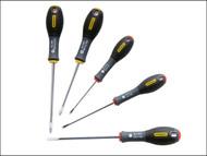 Stanley Tools STA065440 - FatMax Screwdriver Set Parallel/Phillips Set of 5