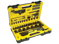 Stanley Tools STA072655 - Tech 3 Socket Set of 78 1/4in & 1/2in Drive