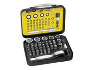 Stanley Tools STA113906 - Bit & Socket Set of 39 + Ratchet Metric 1/4 Drive