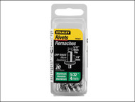 Stanley Tools STA1PAA52 - 1-PAA52 Aluminium Rivets Short 4mm (20)