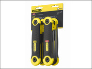 Stanley Tools STA269267 - Hexagon Key Folding Set of 17 Metric Imperial (1.5-8mm 5/64-1/4in)