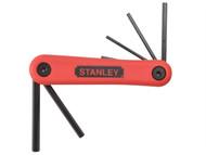 Stanley Tools STA469261 - Hexagon Key Folding Set of 7 Metric (1.5-6mm)