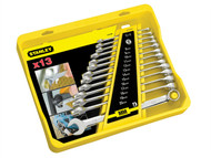 Stanley Tools STA494648 - FatMax Combination Spanner Set of 13 Metric 8 to 20mm