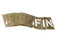 Stencils STNL2LB - Set of Brass Interlocking Stencils - Letters 2in
