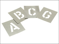 Stencils STNL3 - Set of Zinc Stencils - Letters 3.in