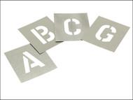 Stencils STNL6 - Set of Zinc Stencils - Letters 6in