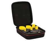 Starrett STRKFC06022 - KFC06022 Bi-Metal Fast Cut Electricians Holesaw Kit