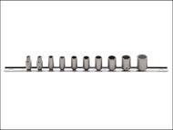 Stahlwille STW40AD10CL - Bi-Hexagon Socket Set of 10 with Clip Strip AF 1/4in Drive