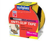 Sylglas SYLASTBLY18 - Anti-Slip Tape 50mm x 18m Black & Yellow