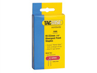 Tacwise TAC0288 - 91 Narrow Crown Divergent Point Staples 22mm - Electric Tackers Pack 1000