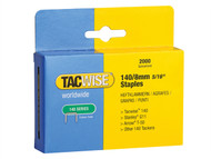 Tacwise TAC0346 - 140 Heavy-Duty Staples 8mm (Type T50, G) Pack 2000