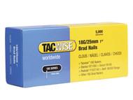 Tacwise TAC0396 - 18 Gauge 25mm Brad Nails Pack of 5000