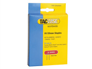 Tacwise TAC0746 - 91 Narrow Crown Staples 35mm - Electric Tackers Pack 1000