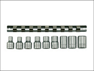 Teng TENM1210 - M1210 Socket Clip Rail Set of 9 External Torx 1/2in Drive