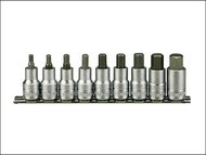 Teng TENM1212 - M1212 Socket Clip Rail Hex Set of 9 Metric 1/2in Drive