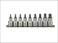 Teng TENM1213TX - M1213TX Socket Clip Rail Set of 9 Internal Torx 1/2in Drive