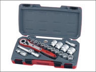 Teng TENT1221 - T1221 Socket Set of 21 Metric 1/2in Drive