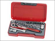 Teng TENT1424 - T1424 Socket Set of 24 Metric 1/4in Drive