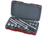 Teng TENT34186 - T3418-6 Socket Set of 18 Metric 3/4in Drive