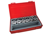 Teng TENTT12176 - TT1217-6 17 Piece Metric 6p Socket Set 1/2in Drive