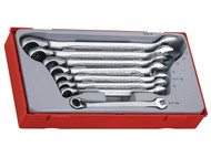 Teng TENTT6508R - TT6508R Ratchet Combination Spanner Set 8pc Metric