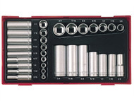 Teng TENTTAF32 - TTAF32 32 Piece Reg/ Deep Socket Set 1/4-3/8in Drive