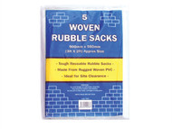 Tristar TRITRS5 - Woven White Rubble Sacks (5) 36 x 24in