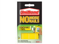Unibond UNI781739 - No More Nails Removable Pads 19mm x 40mm (Pack of 10)