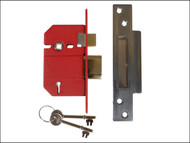 UNION UNNJ2200SC25 - StrongBOLT 2200S BS 5 Lever Mortice Sashlock Satin Chrome 68mm Box