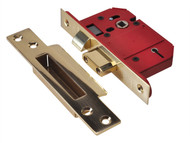 UNION UNNJ2200SP25 - StrongBOLT 2200S BS 5 Lever Mortice Sashlock Satin Brass 68mm Box