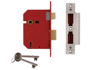 UNION UNNJ2201PL25 - 2201 5 Lever Mortice Sashlock Brass Finish 65mm 2.5in Box