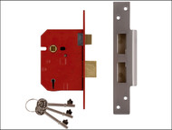 UNION UNNJ2234EP25 - 2234E 5 Lever BS Mortice Sashlock Plated Brass Finish 67mm 2.5in Box