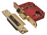 UNION UNNJL22EPB25 - StrongBOLT 22EU EUS-PB-2.5 Euro Sashlock Plated Brass 68mm 2.5in