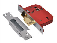 UNION UNNY2205SS25 - StrongBOLT 2205S 5 Lever Mortice Sashlock Stainless Steel 68mm 2.5in Visi