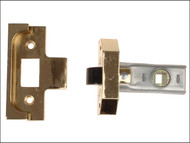 UNION UNNY2650EB25 - Rebated Tubular Mortice Latch 2650 Electro Brass 63mm 2.5in