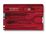 Victorinox VICJSWCDRDB - Swiss Card Translucent Red Blister Pack