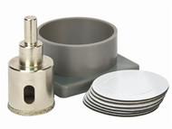 Vitrex VIT102772 - Diamond Tile Drill Self Adhesive Kit System 35mm