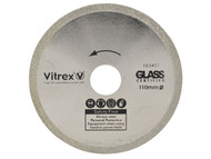 Vitrex VIT103417 - Diamond Blade Glass 110mm