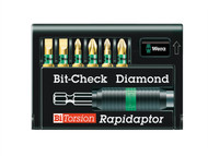 Wera WER056370 - Bit-Check BiTorsion Diamond PZ, PH, SL Set of 7 Carded